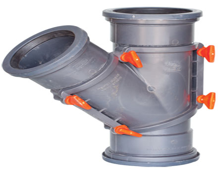 Sewerage Inspection Y Junction With Rubber Ring